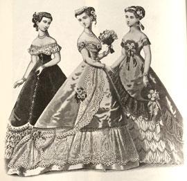 Abiti Eleganti Fine 800.Abiti Antichi Storia Della Moda 1883 1890